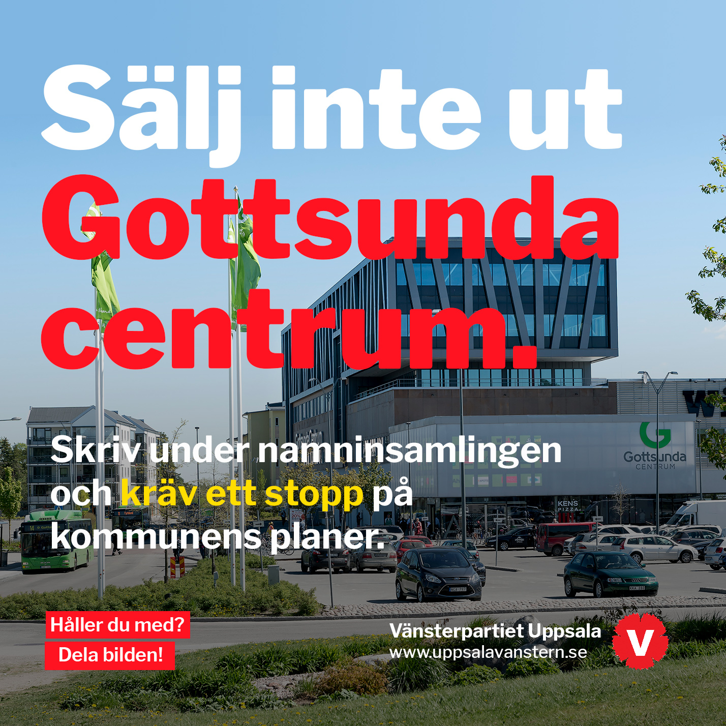 Sälj inte ut Gottsunda centrum